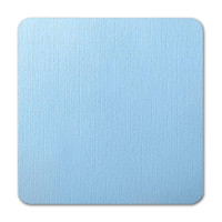 "50 Pack Eames Furniture Pacific Blue 80 Lb. Cover Square Borderless Rounded Corner Cards 7 1/4"" X 7 1/4"""