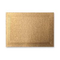 "50 Pack Stardream Metallic Antique Gold 105 Lb. Cover Triple Panel Border Enclosure Card 2 15/32"" X 3 7/16"""