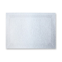 "50 Pack Stardream Metallic Silver 105 Lb. Cover Triple Panel Border Enclosure Card 2 15/32"" X 3 7/16"""