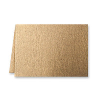 "50 Pack Stardream Metallic Antique Gold 105 Lb. Cover Borderless Folded Enclosure Card 2 15/32"" X 3 7/16"" Closed"