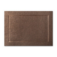 "50 Pack Stardream Metallic Bronze 105 Lb. Cover A2 Bevel Panel Border Card 4 1/4"" X 5 1/2"""