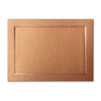 "50 Pack Stardream Metallic Copper 105 Lb. Cover A2 Bevel Panel Border Card 4 1/4"" X 5 1/2"""