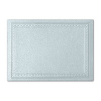 "50 Pack Stardream Metallic Aquamarine 105 Lb. Cover A2 Imperial Embossed Border Card 4 1/4"" X 5 1/2"""
