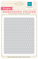 Echo Park Paper Mini Triangles Embossing Folder