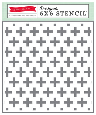 Echo Park Paper Swiss Cross Stencil