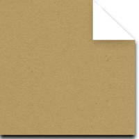 "Duplex Natural Kraft and Natural White Two-Sided 8 1/2"" x 11"" cover weight Matte Cardstock"
