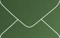 Curious Metallics Botanic Business Card Metallic Euro Pointed Flap Envelopes 50 Per Package