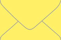 Aura Factory Yellow 4-Bar Euro Pointed Flap Envelopes 50 Per Package