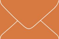 Aura Papaya 4-Bar Euro Pointed Flap Envelopes 50 Per Package