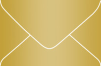 Rich Gold 4-Bar Metallic Euro Pointed Flap Envelopes 50 Per Package