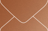 Stardream Copper 4-Bar Metallic Euro Pointed Flap Envelopes 50 Per Package