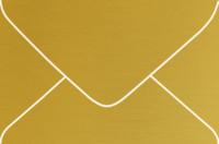 Curious Metallics Super Gold 4-Bar Metallic Euro Pointed Flap Envelopes 50 Per Package