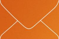 Curious Metallics Mandarin 4-Bar Metallic Euro Pointed Flap Envelopes 50 Per Package