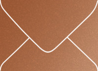 Stardream Copper A-7 Metallic Euro Pointed Flap Envelopes 50 Per Package