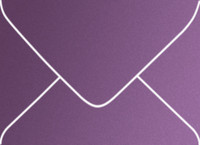 Curious Metallics Violette A-7 Metallic Euro Pointed Flap Envelopes 50 Per Package