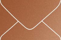 Stardream Copper A-9 Metallic Euro Pointed Flap Envelopes 50 Per Package