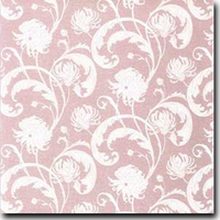 "Chantry Pattern Metallic 8 1/2"" x 11"" text weight Pink on Curious Metallics Ice Silver"