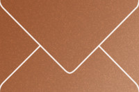 """Stardream Copper 6"""" x 9"""" Booklet Metallic Euro Pointed Flap Envelopes 50 Per Package"""