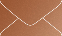 Stardream Copper Mini Metallic Euro Pointed Flap Envelopes 50 Per Package
