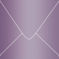 "Curious Metallics Violette 6"" Square Metallic Euro Pointed Flap Envelopes 50 Per Package"