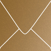 """Stardream Antique Gold 5 1/2"""" Square Metallic Euro Pointed Flap Envelopes 50 Per Package"""