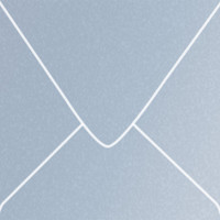 "Stardream Vista 5 1/2"" Square Metallic Euro Pointed Flap Envelopes 50 Per Package"