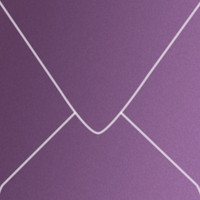 "Curious Metallics Violette 5 1/2"" Square Metallic Euro Pointed Flap Envelopes 50 Per Package"