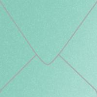 "Stardream Lagoon 5 1/2"" Square Metallic Euro Pointed Flap Envelopes 50 Per Package"