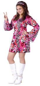 /feelin-groovy-plus-size-womens-hippie-dress/