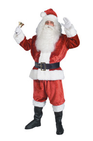 Santa Suit Crimson Imperial Plush 40-48 Jacket Size (2393)