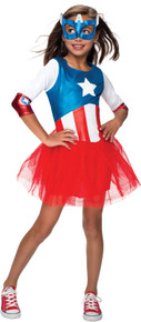 American Dream Metallic Child's Dress Captain America