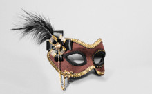 /brown-suede-mask-with-feather/