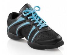 """Capezio """"Bolt"""" Dansneaker Black w/ Assorted Colors"""
