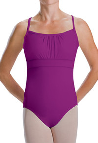 Empire Banded Double Shirred Girl's Leotard