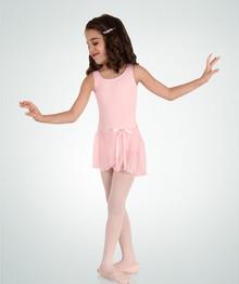 Girl's Microfiber Tank Dress Leotard w/ Skirt