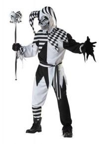 Nobody's Fool Adult Jester Costume Black & White