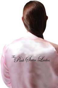 50's The Pink Satin Ladies Adult Jacket & Scarf Set