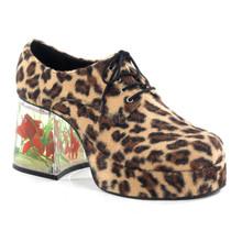 "3 1/2"" Heel Pimp Shoe with Floating Fish Cheetah Fur"