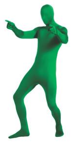2nd Skin Full Body Jumpsuit & Mask - Green