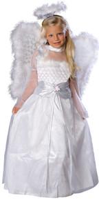 Rosebud Angel Girl's Costume with Wings & Halo