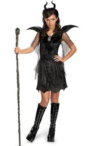 Deluxe Maleficent w/ Glitter Horns Girl's Licensed Disney (71829)