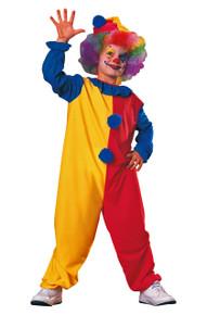 Clown Kids Costume Jumpsuit & Hat