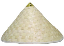 Coolie Straw Bamboo Hat with Pointed Top