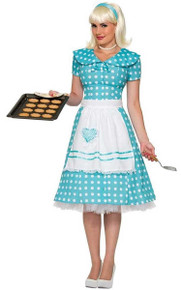 50's Housewife Knee Length Dress and Apron