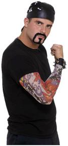 /bad-biker-kit-skull-cap-tatttoo-sleeve-goatee-moustache/