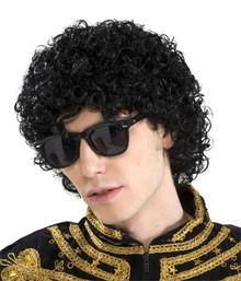 80's Pop King Wig Short Black Afro