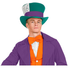 Mad Hatter Green with Purple Band Hat