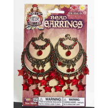 /bead-earrings-gold-with-red-stars-mystic-fortune-teller/