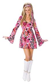 60's Feelin' Groovy Costume Dress and Head Scarf