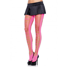 Criss Cross Shredded Neon Pantyhose